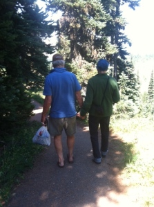 Steve and Shann walking