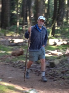 Steve hiking Hoh