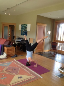 elena headstand